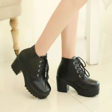 [READY STOCK] England High Heels Women Shoes Boots