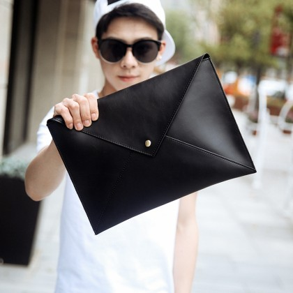 Men's Clutch Bag Fashion Handbag Envelope Retro Shoulder Diagonal Bag