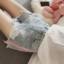 Women's High Waist Denim Shorts Summer Wide Leg Hot Pants Plus Size