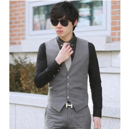 [READY STOCK] Black Men England Formal Jacket Suits Vest