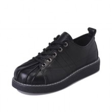 Women's Soft Chic Small Shoes Students Flat Shoes Shell Head Plus Size Shoes