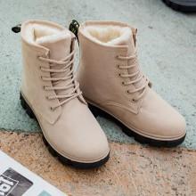Women's Snow Boots Short Tube Flat Cotton Shoes Student Boots Plus Size