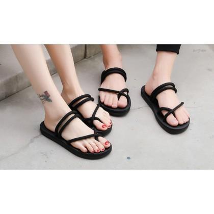 Men's Couple Slippers Summer Pinch Sandals Beach Shoes Plus Size Flip Flops