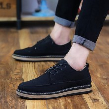 Men's Summer Casual Shoes Breathable Small Boots Leather Shoes