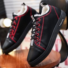 Men's Two Cotton Shoes Thickening Casual Winter Non Slip Shoes Velvet Shoes