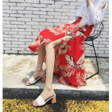 Women One Piece Skirt Seaside Holiday Beach Skirt Waist Wrap Chiffon Long Skirt