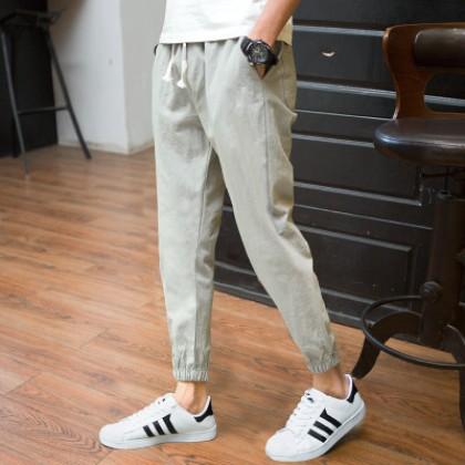 Men's Summer Harlan Pants Loose Casual Shorts Middle Waist Plus Size Pants
