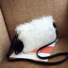 Women Winter Fur Small Bag Handbag Shoulder Diagonal Envelope Clutch Bag