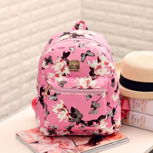 Women Butterfly Shoulder Bag Floral Backpack Fashion Small Bag