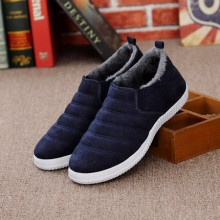 Men's Winter Warm Cotton Shoes Velvet Thickening Sports Shoes Round Head