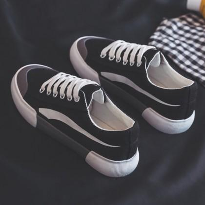 Men's Sports Leisure Shoes Canvas Trend Shoes Breathable Low Heel Shoes