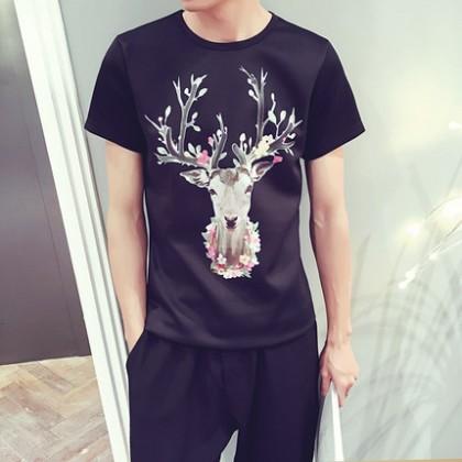 Plus Size XXXXXL Men T-Shirt Short Sleeve