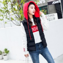 Women Winter Cotton Vest Thick Vest Jacket Slim Sleeveless Plus Size Vest