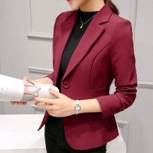 Women Autumn New Chic Professional Suit Long-Sleeved Slim Small Suit Jacket