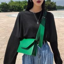 Women Diagonal Small Square Bag Shoulder Broadband Bag Crossbody Shoulder