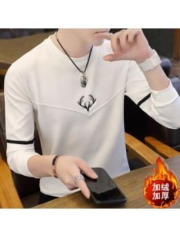 Men's Autumn Long Sleeved T-Shirt Sweater Round Neck Plus Size Shirt
