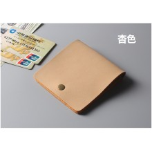 Men's Handmade Leather Wallet Horse Leather Wallet Thin Wallet Card Bills Wallet