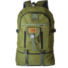 Men's Large Bag Canvas Backpack Outdoor Travel Bag Hiking Sports Bag