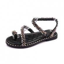 Women Thong Sandals Summer Flat Shoes Cross Straps Plus Size Shoes