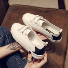 Women Small Shoes Velcro Flat Students Sneakers Shallow Mouth Plus Size