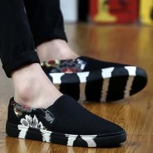 Men's Autumn Shoes Canvas Casual Shoes Social Shoes Flat Breathable Shoes