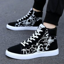 Men's Canvas Tide Shoes High-Top Shoes Casual Sports Winter Shoes