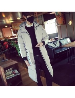 Men's Winter Long Section Thick Jacket Student Couple Hooded Coat