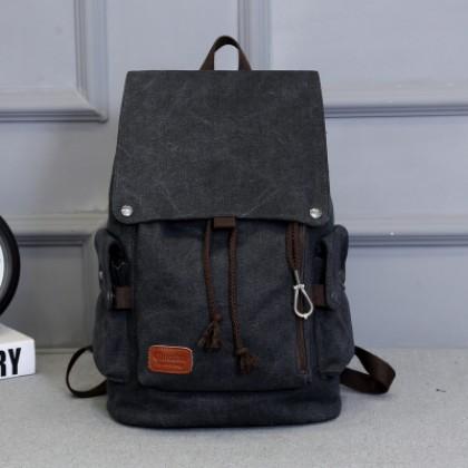 Men's Casual Backpack Fashion Canvas Bag Travel Bag Student Computer Bag