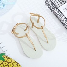 Women Thong Sandals Non Slip Flat Bottom Beach Shoes Casual Shoes Plus Size