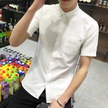 Korean Plus Size XXXXL Men Shirts Short Sleeve