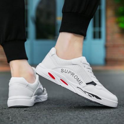 Men's Autumn Breathable White Shoes Sports Leisure Shoes Canvas Shoes