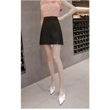 Women's Korean High Waist  Front Slit  Short Wild Skirt