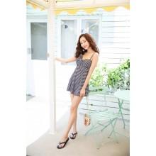 Women Korean One Piece Hot Spring Split Skirt Type  Sexy Swimsuit