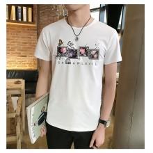 Men's Korean Trendy Slim Round Neck T Shirt