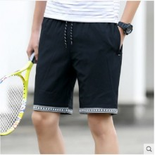 Men's Summer Hole Denim Shorts Slim Pants Thin Jeans Pants