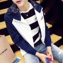 Men's Trendy Korean Fashion  Autumn Spring Slim Fit Jacket