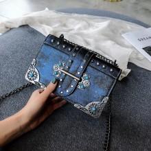 Women Fashionable Wild Diagonal Small Retro Chain bag