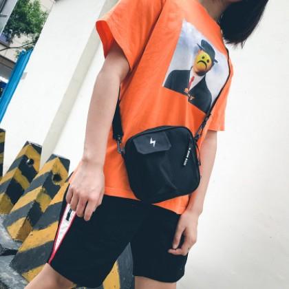 Men's Cute Street Trend Lightning Crossbody Shoulder Bag