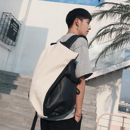 Men's Korean Fashionable Dumpling Package Style Casual Backpack