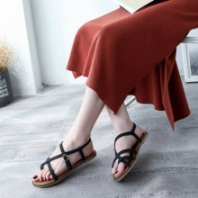 Women Summer Fashion Roman Sandals Flats with Buckels