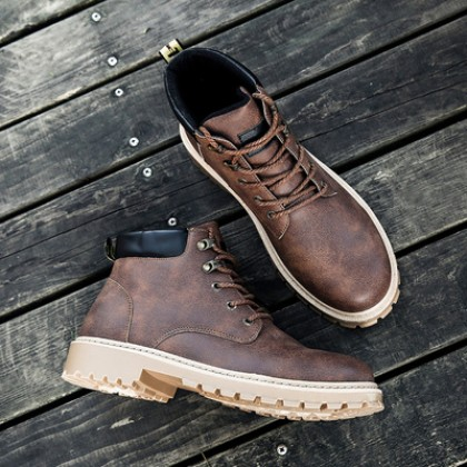Men's Fashionable Retro Leather Martin Boots