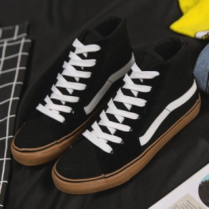 Men's Korean Trend Harajuku Style High Top Unisex Casual  Canvas Shoes