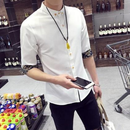 [READY STOCK] Korean Plus Size XXXL Men Shirts Short Sleeve