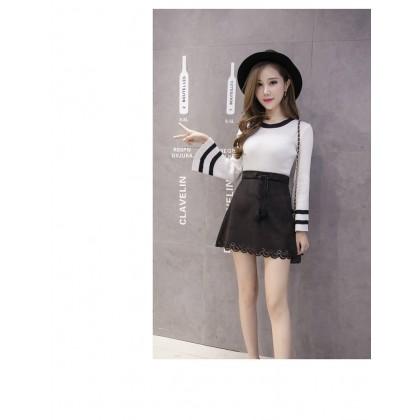 Women's Korean High Waist  New Suede A Cut Wild Skirt