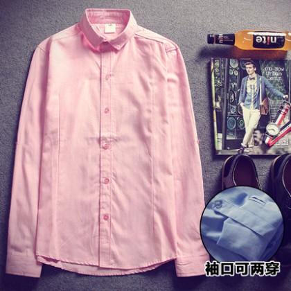 Office Plus Size XXXL Men Shirts Work Long Sleeve