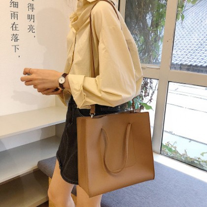 Women Korean Trend Retro Chic Shoulder Sling and Tote Bag