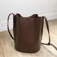 Women Korean  Wild Fashion  Retro Style Bucket Bag