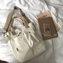 Men's Korean Trend Casual Wild Pocket Canvas Messenger Tote Bag