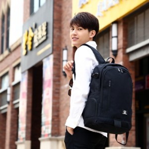 Men's  Korean Trend Casual Canvas Campus Backpack