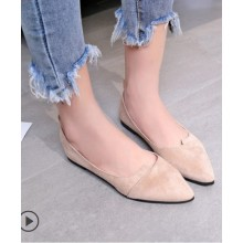 Women Korean Fashion Pointed Shallow Mouth Scoop Peas Shoes